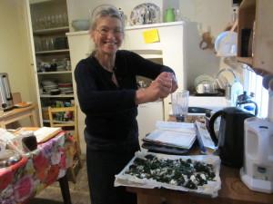 IMG_7526 Nell making nettle spanakopita