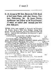 Samuel Brown – 17th Century Medicinal Plants
