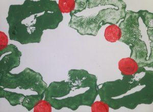 Half Term Activity Printing with Fruit and Veg *